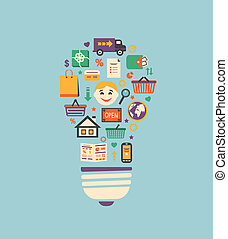 achats en ligne, idée, innovation