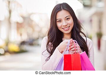 achats femme, asiatique