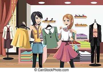 achats, femmes