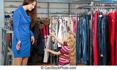 achats, filles, vêtements
