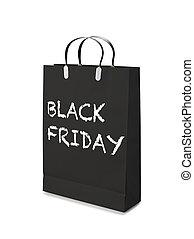 achats, friday., luxe, sac, noir