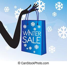 achats, hiver, vente