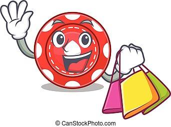 achats, jeux & paris, onduler, sac, tenue, chips, heureux, riche