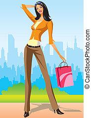 achats, mode, filles