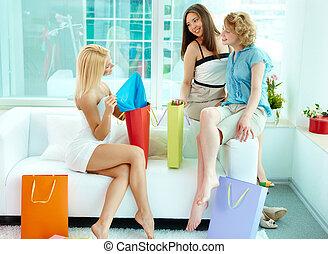 acheteurs, heureux