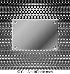 acier, arrière-plan., résumé, métal