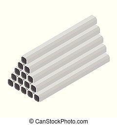 acier, carrée, tube, profils, métallique, tuyau, construction, produits, rectangle, industrie des produits manufacturés, structure