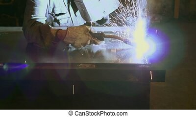 acier, ouvrier manuel, usine