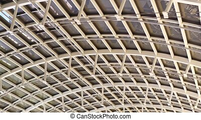 acier, plafond, moderne