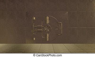 acier, porte, ouverture, fortifié, sûr, sans tache, géant