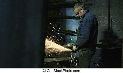 acier, travail, usine, homme