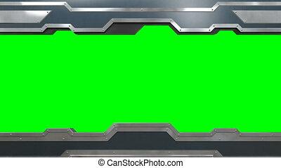 acier, vert, utile, vertical, ouverture, fermer, masque, animation., alpha, screen., transitions., loop-able, 4k, 3840x2160, portail, horizontal, ultra, versions., hd, 3d