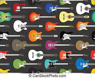 acoustique, couleur, guitares, électrique