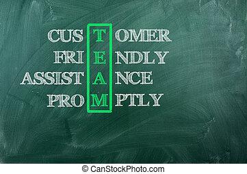 acronyme, équipe