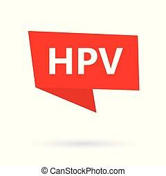 acronyme, autocollant, papillomavirus), hpv, (human