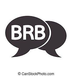acronyme, bulle, bavarder, illustration, internet