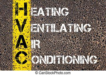 acronyme, business, ventilating, hvac, chauffage, climatisation