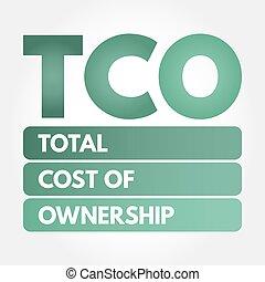 acronyme, -, cout, propriété, tco, total