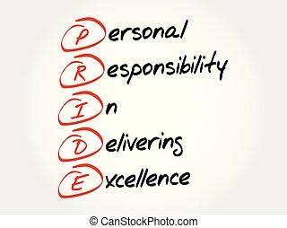 acronyme, fierté, concept