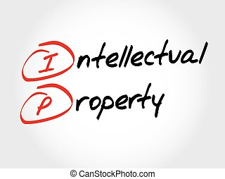 acronyme, ip, -, propriété intellectuelle