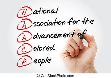 acronyme, naacp, -, marqueur