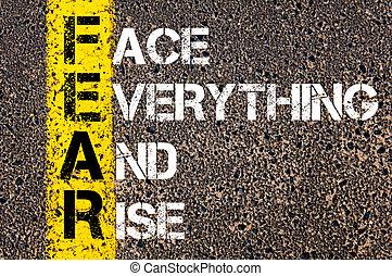 acronyme, peur, business