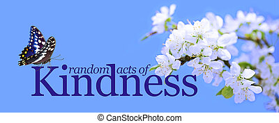 actes, gentillesse, papillon, aléatoire, fond