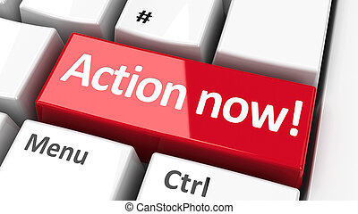 action, #2, maintenant, clavier ordinateur