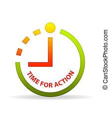 action, clock., temps