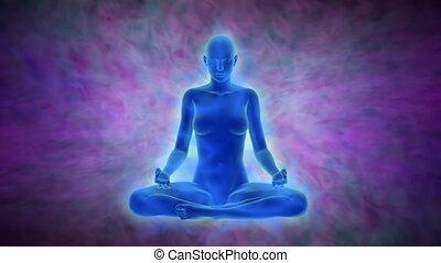 activation, esprit, chakra, aura, éclaircissement, méditation