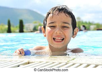 activités, enfants, piscine, natation