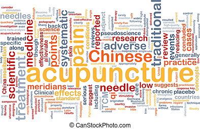acupuncture, wordcloud, concept, illustration