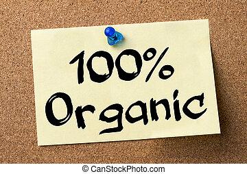 adhésif, organique, 100%, -, étiquette, goupillé, planche, bulletin