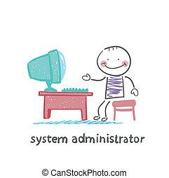administrateur, travail, système