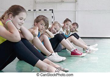 adolescents, gymnase