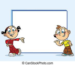 adolescents, whiteboard, autour de