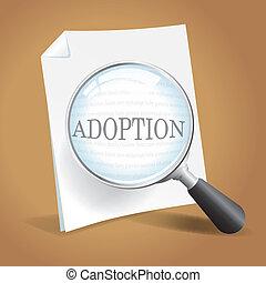 adoption, réexaminer, papiers