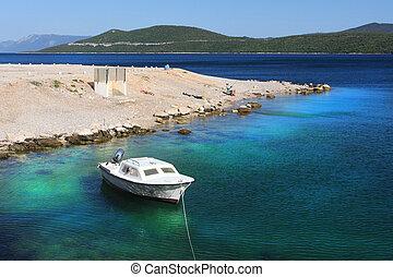 adriatique, croatie, côte