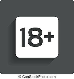adultes, âge, button., stamp., contenu, seulement, limite