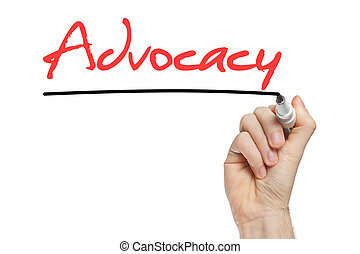 advocacy, manuscrit, mot