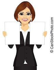affaires femme, papiers, deux, tenue, vide