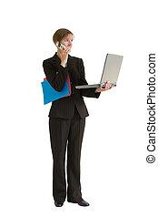 affaires femme, série, -, gestion projet