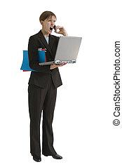 affaires femme, série, -, soumis contrainte dehors