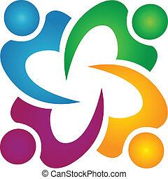 affaires gens, collaboration, logo, groupe