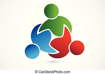 affaires gens, collaboration, procès, logo