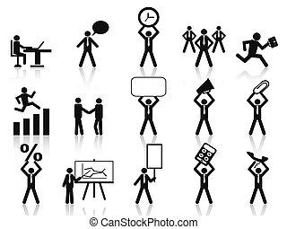 affaires gens, icônes