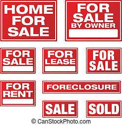 affaires immobiliers, signes