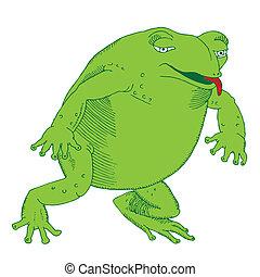 affamé, grenouille