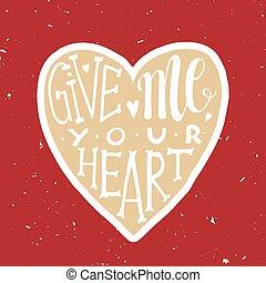 affiche, amour, romantique, coeur