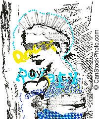 affiche, art, femme, mode, pop